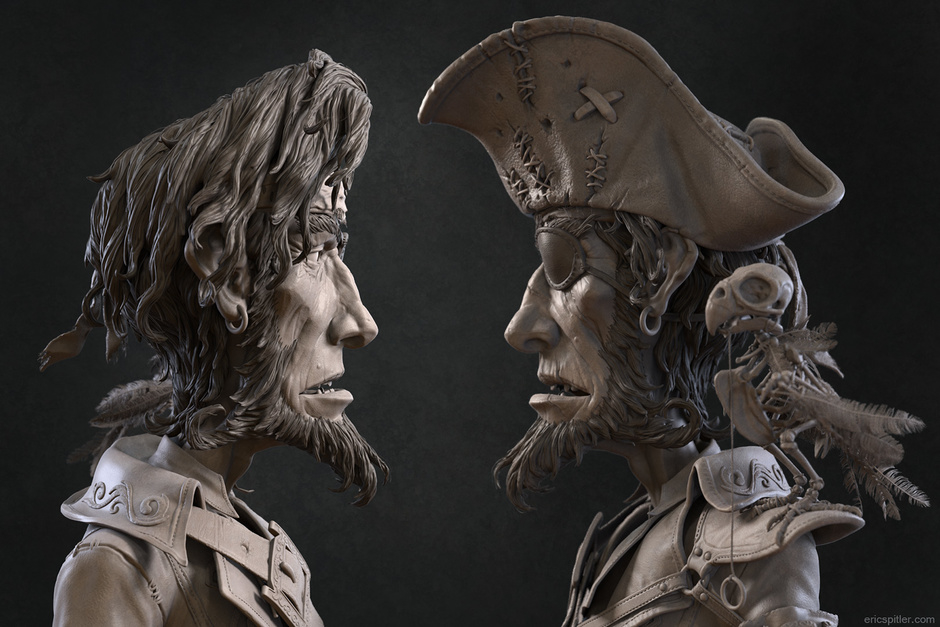 Pirate Hipoly by air-ick | Whimsical | 3D | CGSociety
