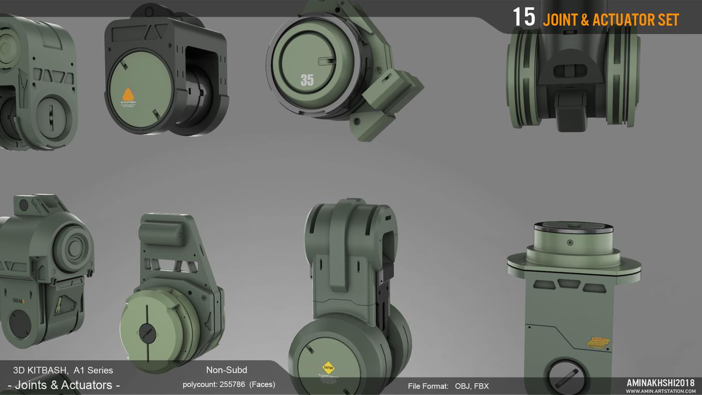 3D Kitbash - Joints&Actuators