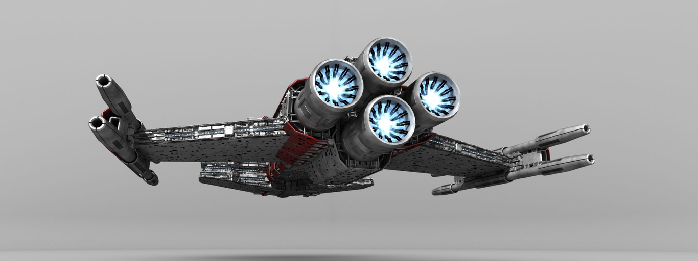 Starcraft Battlecruiser Model Shot