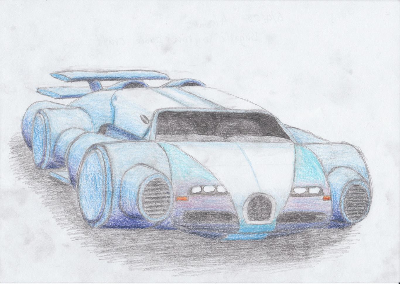 Bugatti Veyron Spaceship Sketch By Benmcwhae 2d Cgsociety