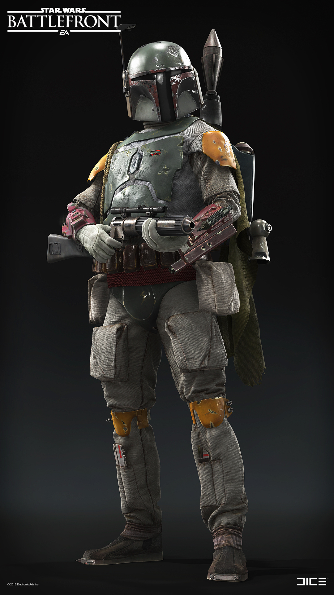 Star Wars Battlefront Boba Fett By Bjar Art 3d