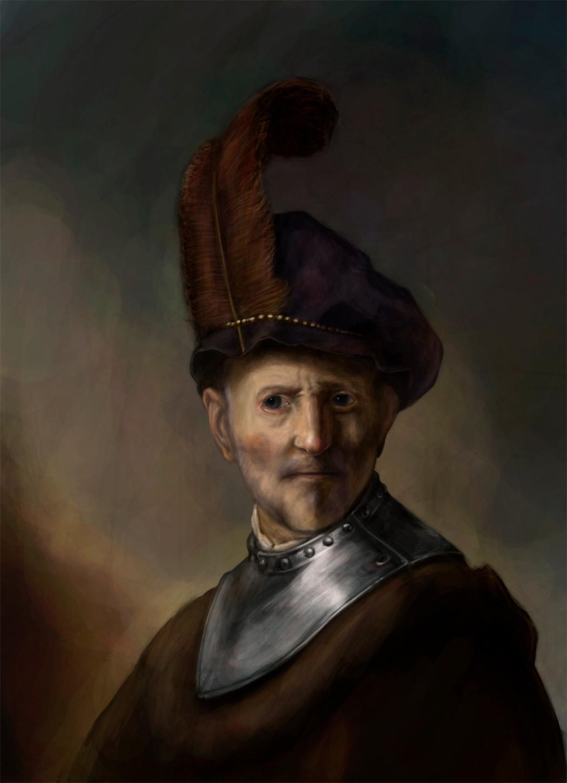 Rembrandt study.