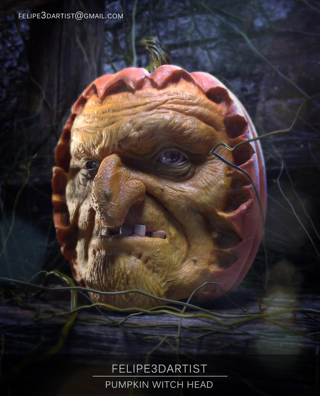 Felipe3dartist pumpkin witch head 1 8ad8636c vztj