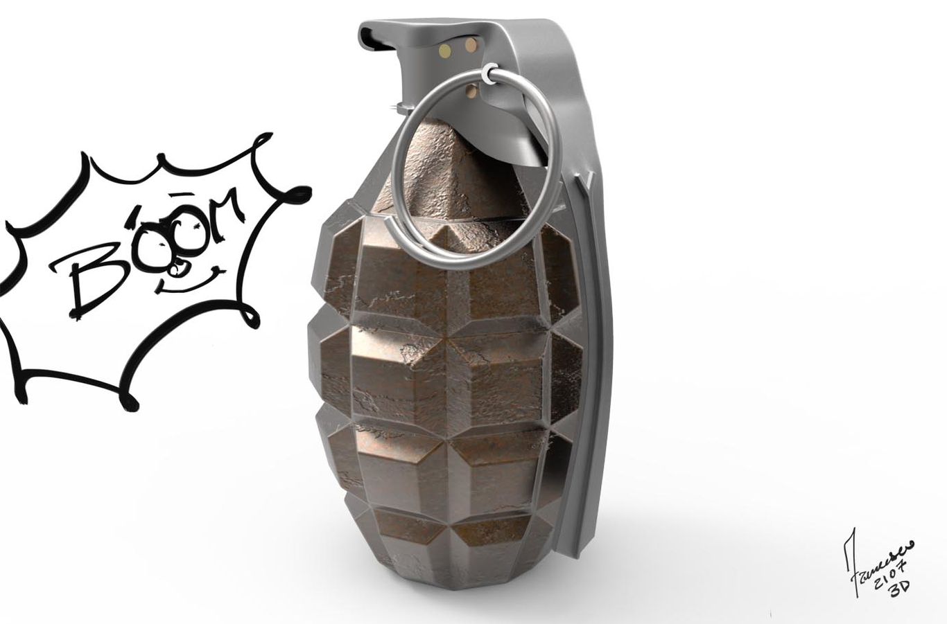 Boom -mk2 grenade by Francesco-1 | Realism | 3D | CGSociety