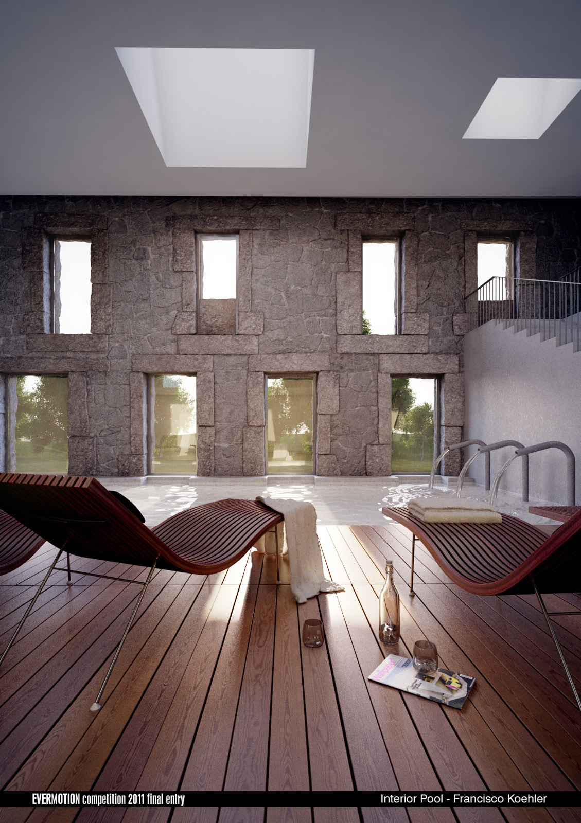 Evermotion Competition - Interior Pool - Image 01 by franciscok | 3D