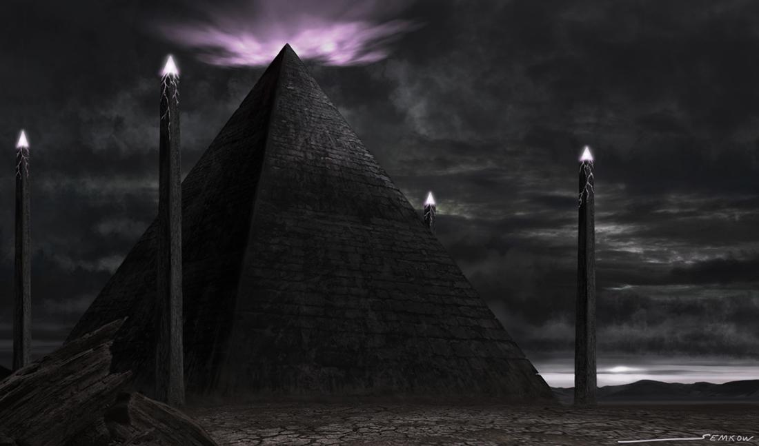 Картинка черная пирамида на телефон