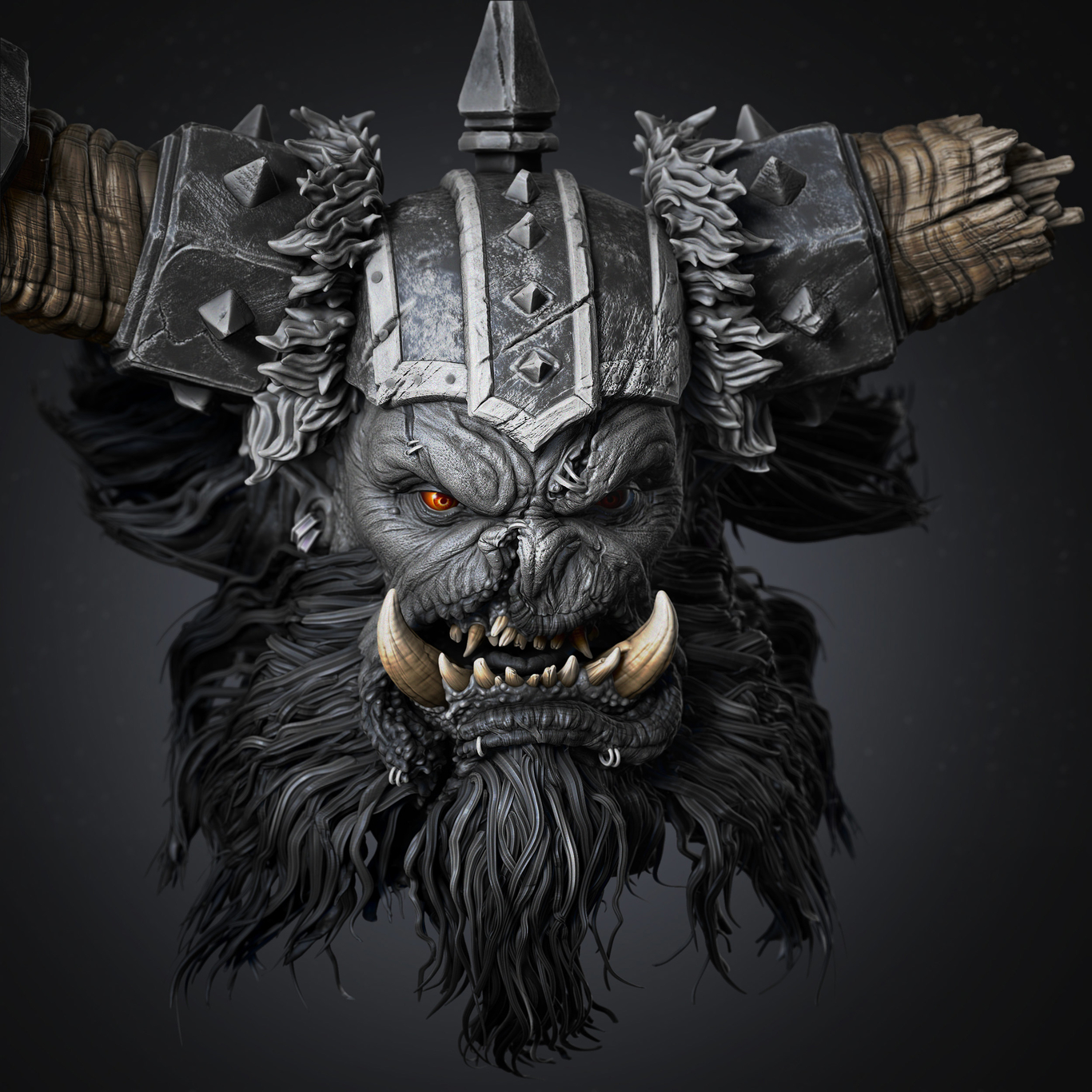 Fan Art Of Warcraft Orc By Harrygk Character Art 3d Cgsociety