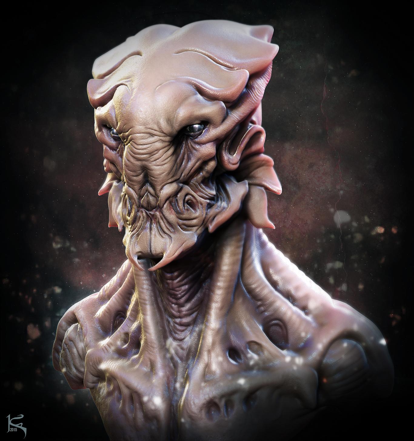 Aris Kolokontes Fan Art #3 - Alien Creature Design Doodle