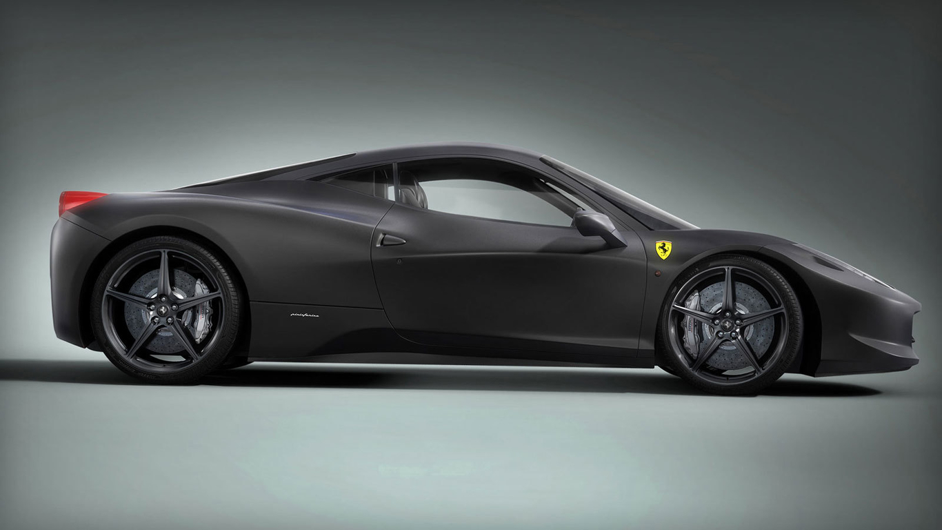 Ferrari Italia Black Edition Side View By Lonka 3d Cgsociety