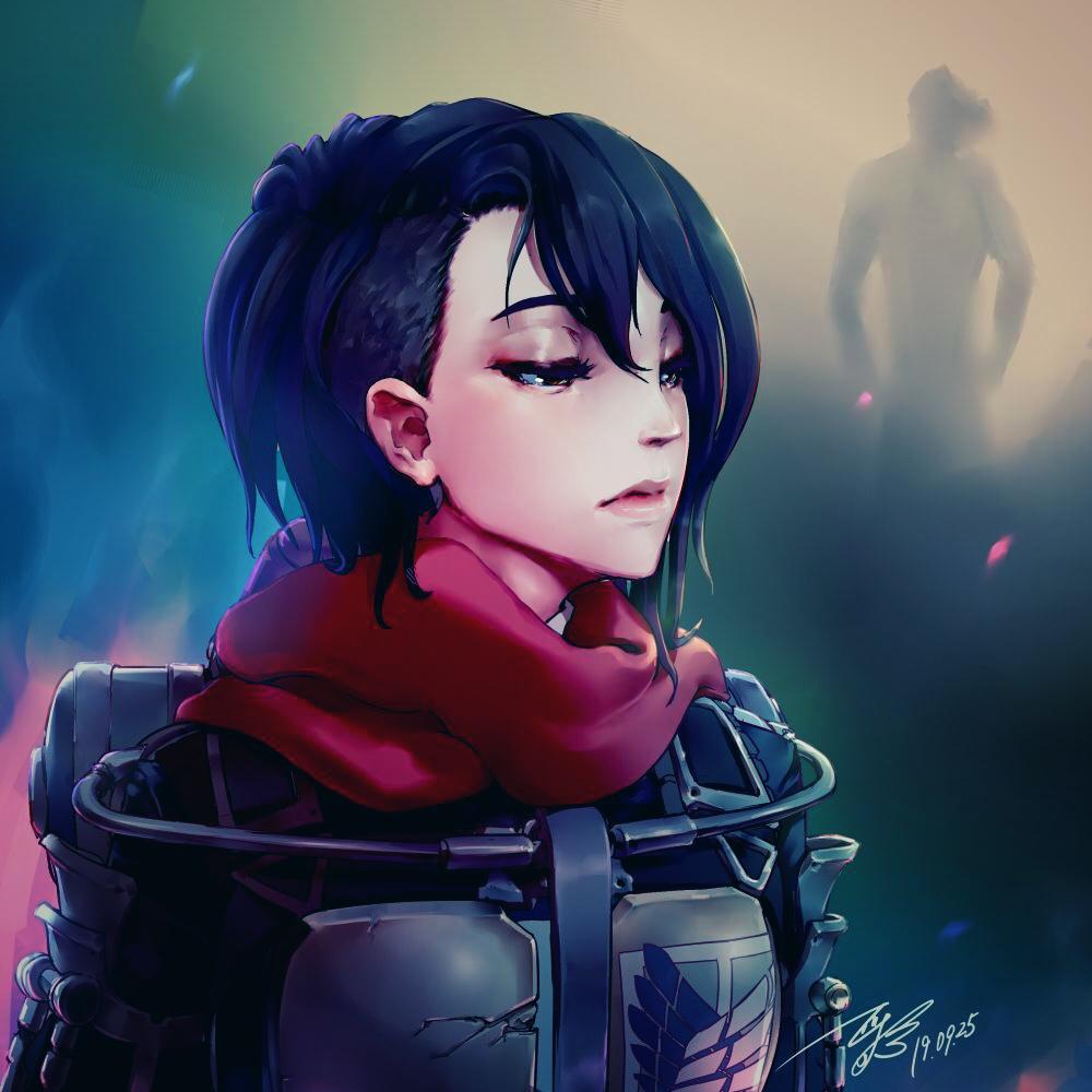 Mikasa Ackerman Adult By Minomiyabi Fan Art 2d Cgsociety