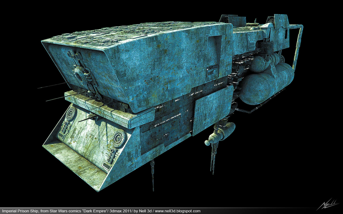 """Imperial Prison Ship, from Star Wars comics """"Dark Empire"""" by"""