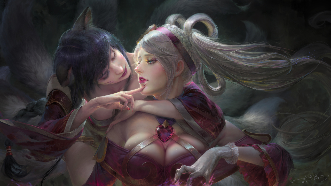 Nightrain1003 ahri and sona of lol 1 89ca8309 fymf