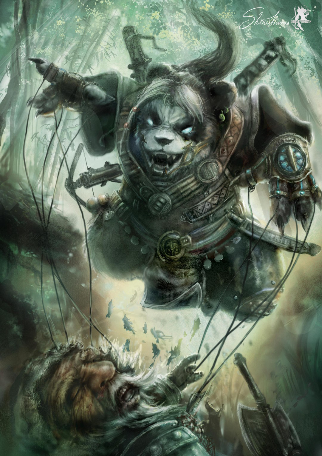 Shinethorns panda man fight with 1 8729d6ef b33x
