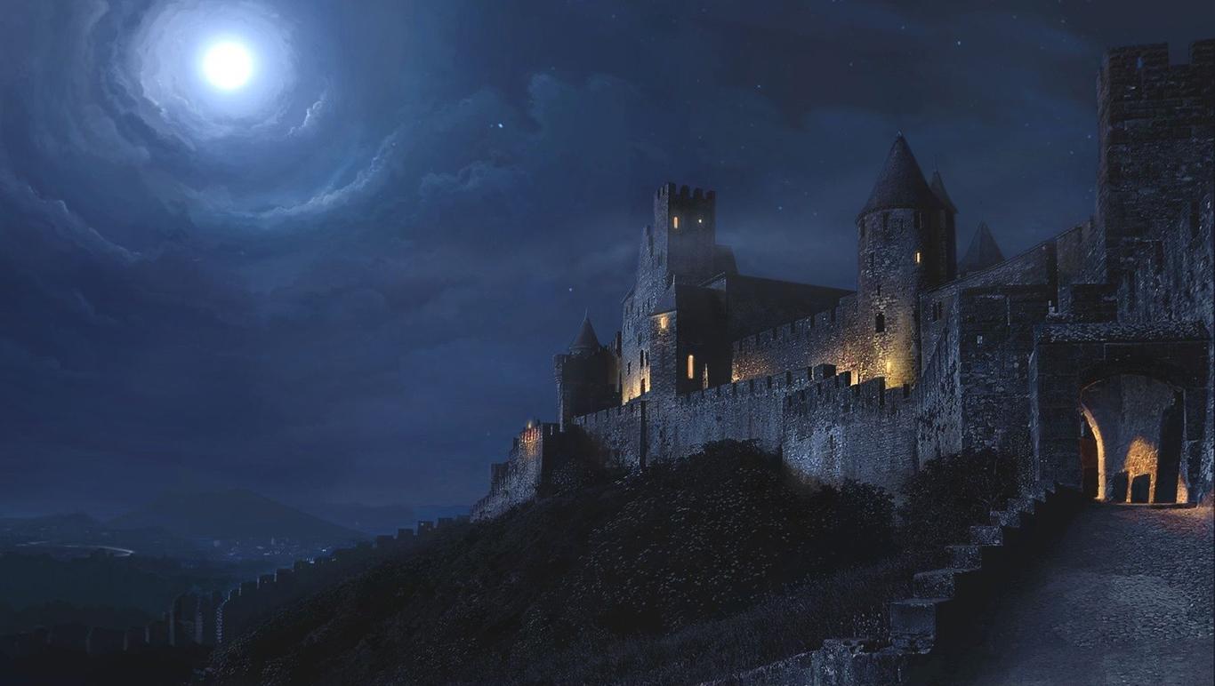 Castle At Night By Skjoldbroder 2d Cgsociety