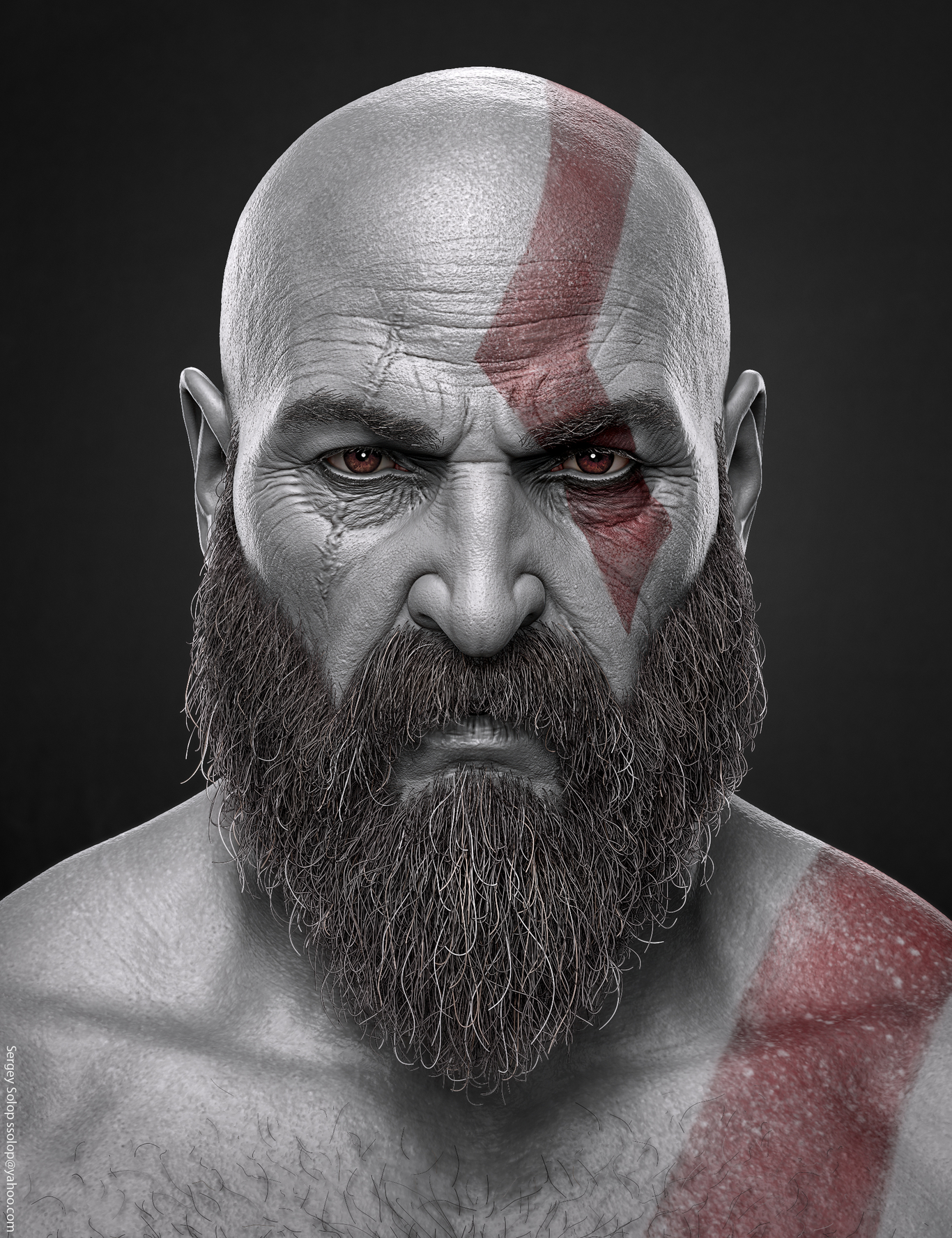 Kratos God Of War By Solop Character Art 3d Cgsociety