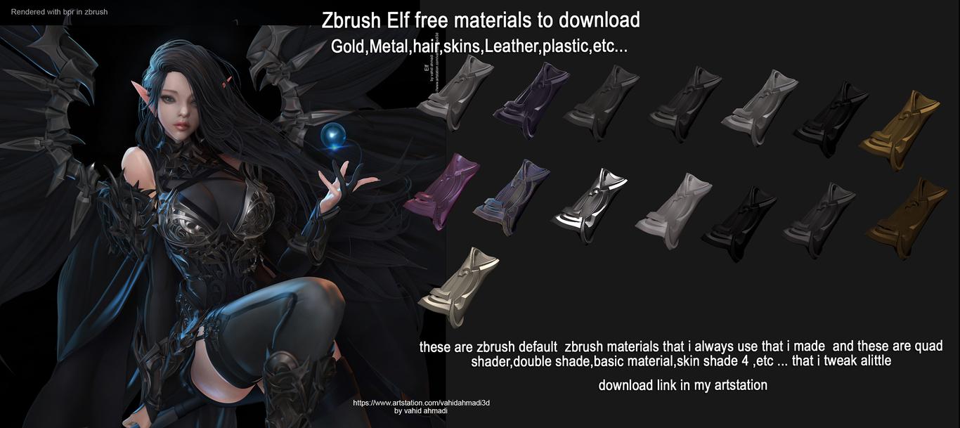 Elf ( with free materials and tutorials ) by vahidahmadi3d