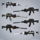 Weapon design based AK-12